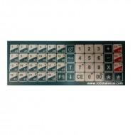 Caratula teclado balanzas BP CP SP
