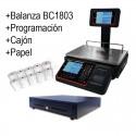 Balanza con impresora BC1803T 15kg 30kg todo incluido