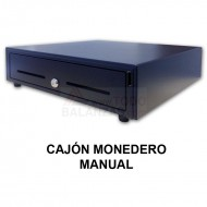 Cajon monedero manual con boton