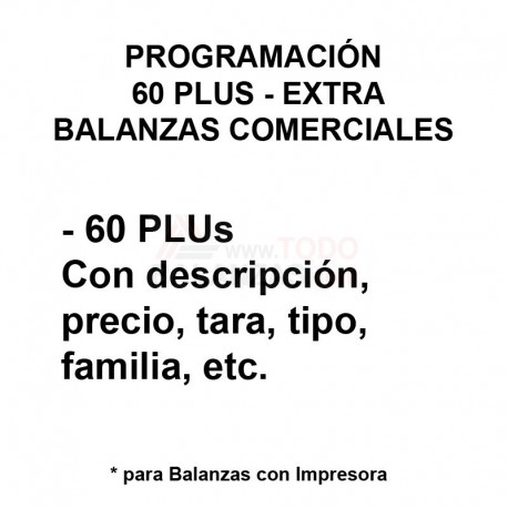 Programación 60 PLUS de Balanza Comercial