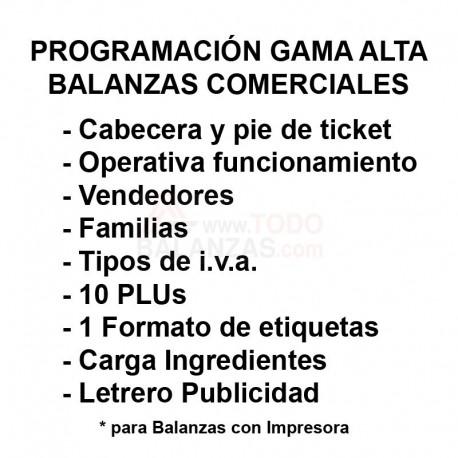 Programación Balanza Gama Alta