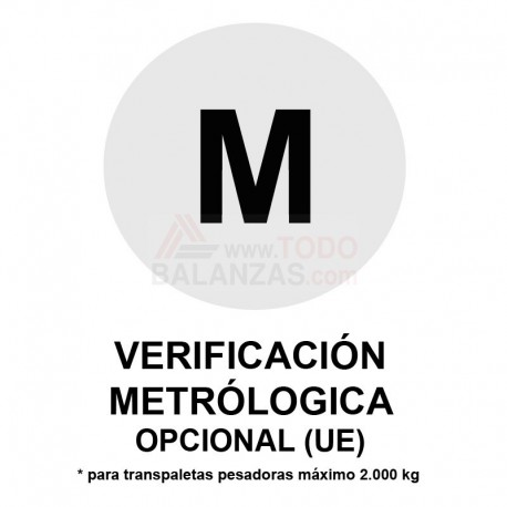 Metrologia legal transpaletas máximo 2.000 kg