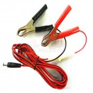 Cable alimentacion balanza bateria externa dc - pinzas - fusible (4m)