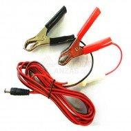 Cable alimentacion externa Dc por pinzas y fusible