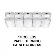 Papel termico para balanzas Bacsa B9 y compatibles (10 rollos)