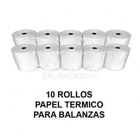 Papel termico para balanzas Bacsa BC1303 y compatibles (10 rollos)