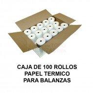 Caja papel termico para balanzas Bacsa B9 y compatibles (100 rollos)