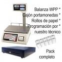 Balanza WPP-6 con impresora y vendedor - pack