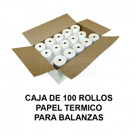 Papel termico 57x45mm caja (100u.)