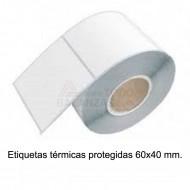 Etiquetas 60x40mm termicas protegidas (20x1000)