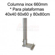 Kit columna inoxidable 660 mm para BDI-610I BDI-620I IB-1708