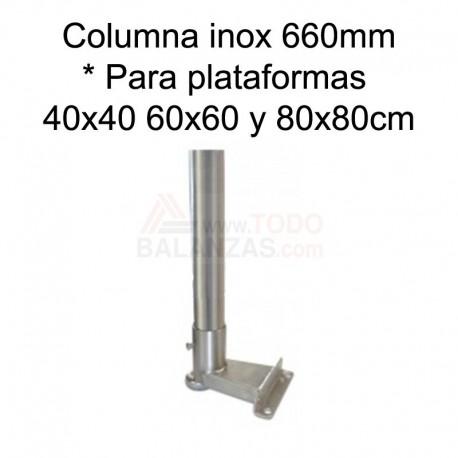 Kit columna inoxidable de 660mm para indicadores BDI610I BDI620I y IB1708
