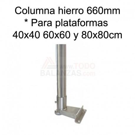 Kit columna hierro de 660mm para indicadores Bacsa BDI-610 ABS