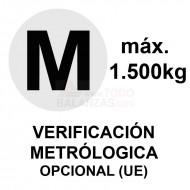 Metrologia legal máximo 1.500 kg