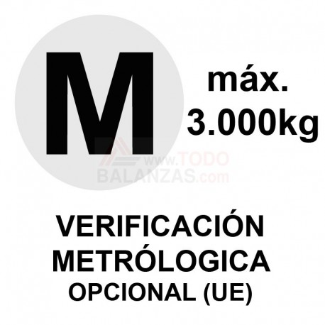 Metrologia legal máximo 3.000 kg