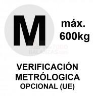 Metrologia legal máximo 600 kg