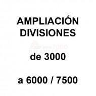 Ampliacion divisiones 3000 a 6000/7500