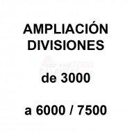 Ampliacion divisiones de 3000 a 6000/7500 para mas precision