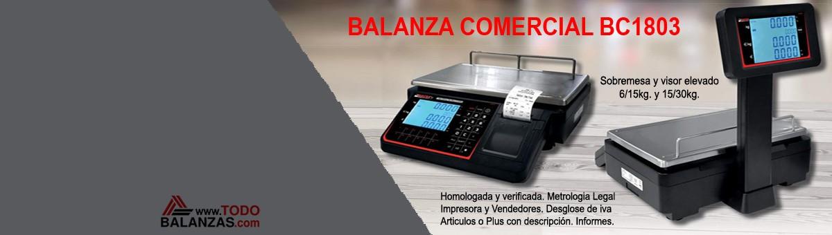 Balanza comercial BC1803 con impresora