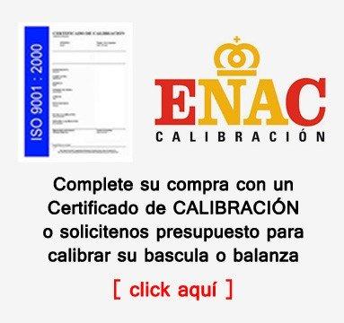 Certificados de calibracion ISO y ENAC para basculas y balanzas en www.todobalanzas.com